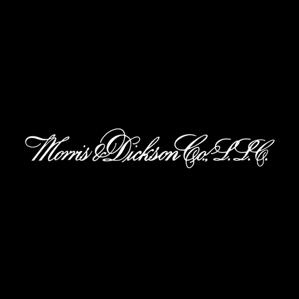 Image of Morris & Dickson logo with black background