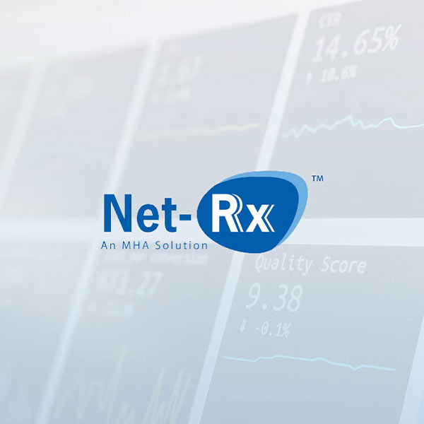 Image of Net-Rx™ logo with white background