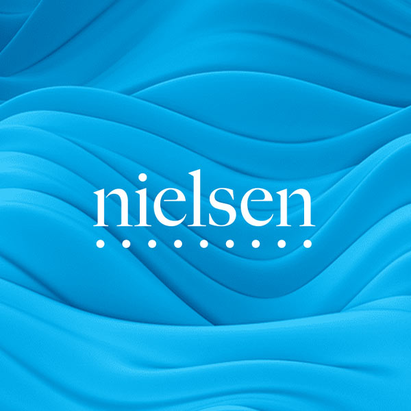 Image of Nielsen logo with blue background