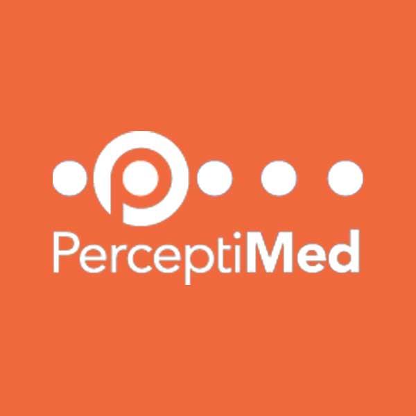 Image of PerceptiMed logo with orange background