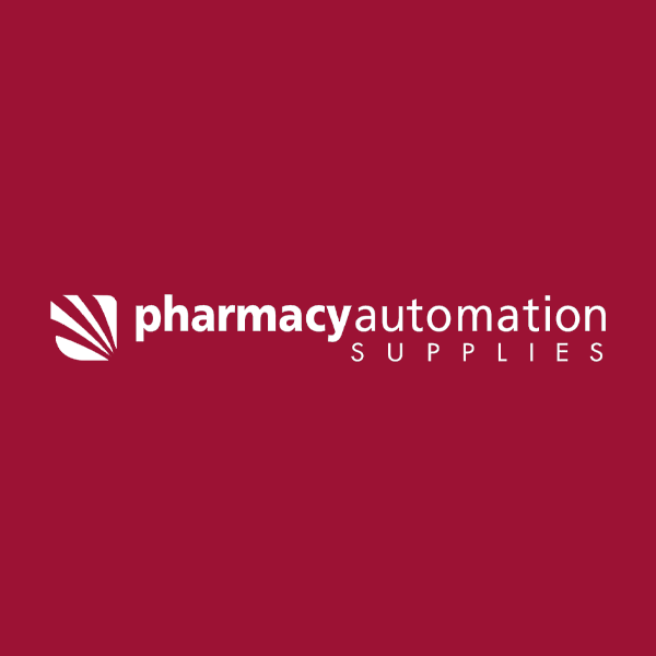 Image of Pharmacy Automation Supplies (PAS) logo with red background