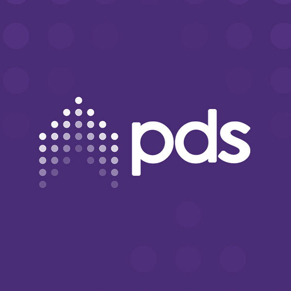 Image of Pharmacy Development Services (PDS) logo with purple background