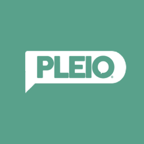 Image of Pleio logo with green background
