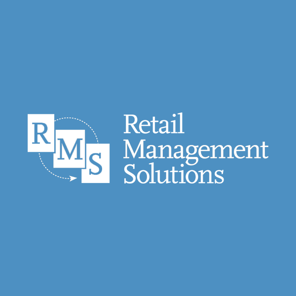 Image of Retail Management Solutions logo with blue background