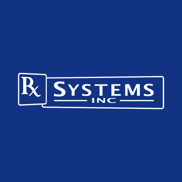 Image of Rx Systems logo with blue background