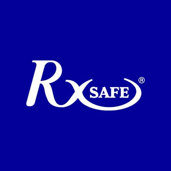 Image of RxSafe logo with dark blue background