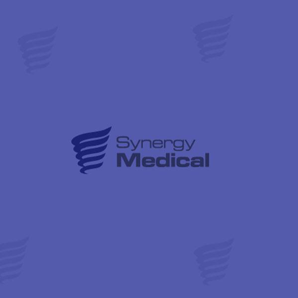 Image of Synergy Medical logo with purple background