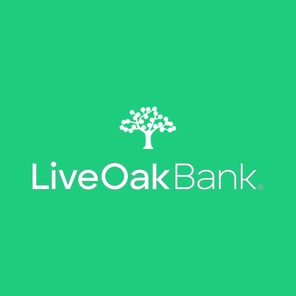 Image of Live Oak Bank logo with green background
