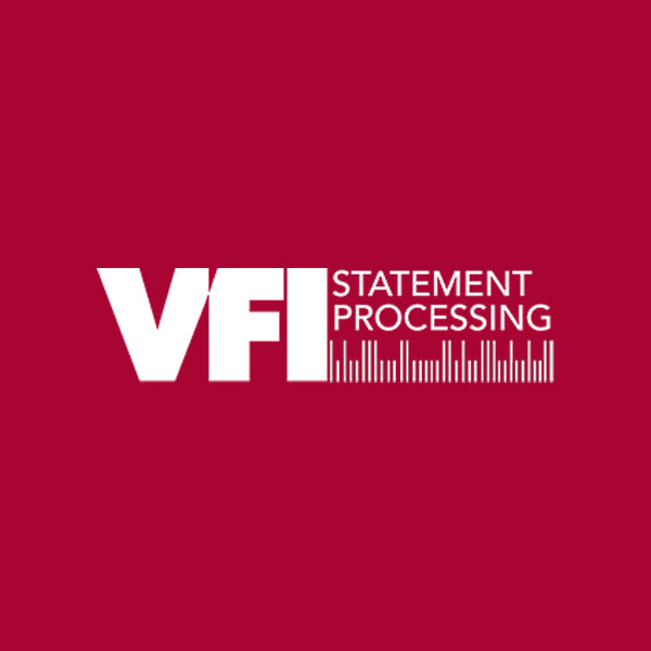 Image of VFI Statement Processing logo with red background
