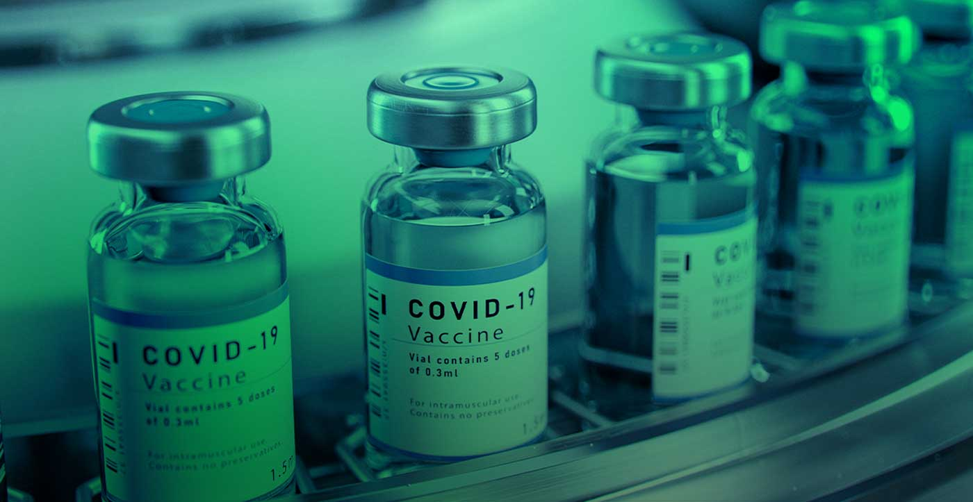 Image of COVID-19 vaccine bottles