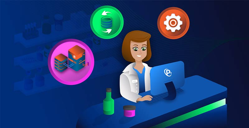 Vector Image of a Woman Pharmacist