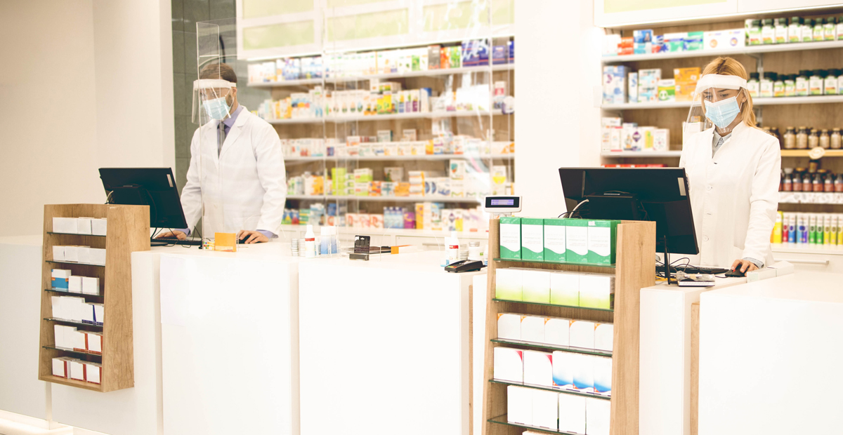 Pharmacy with modern interior