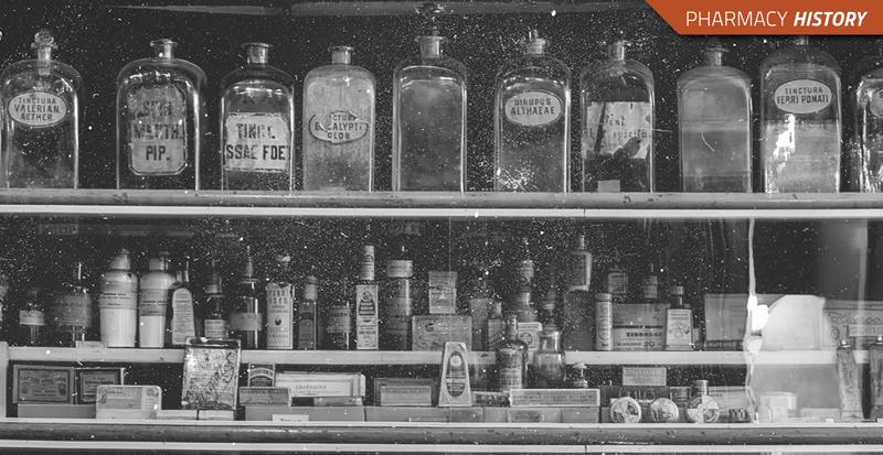 Vintage pharmacy bottles