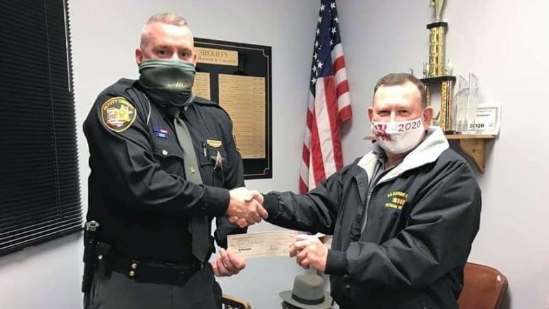 Special Deputies receiving award.