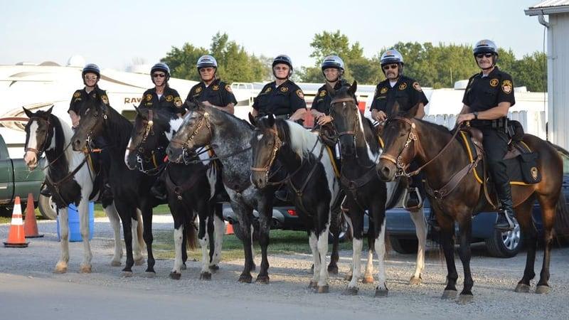 Sheriff's Posse on Horseback