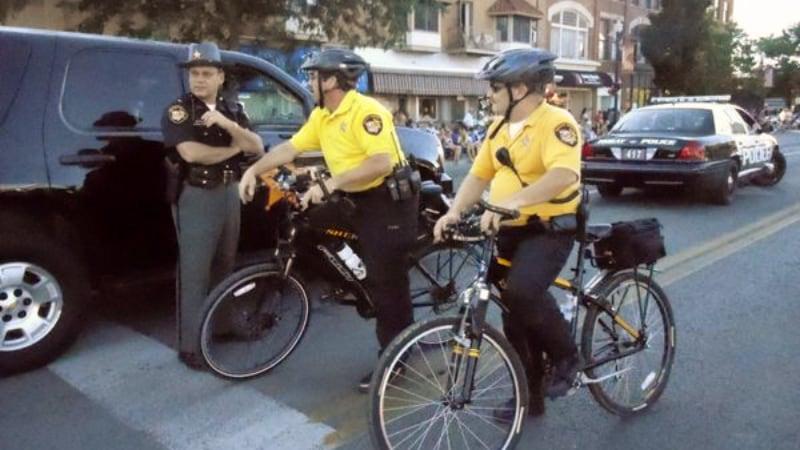 Officers in Bike Patrol on bicycles