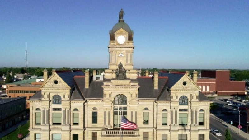 Drone shot of Courthouse