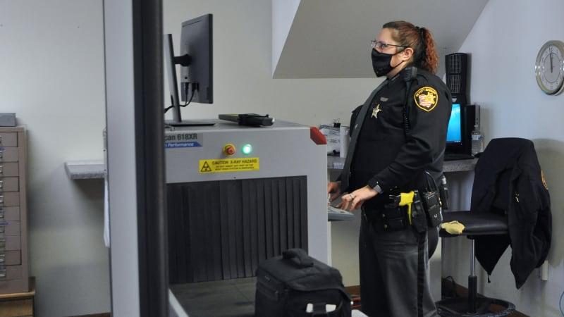 Juvenile court full-body scanner