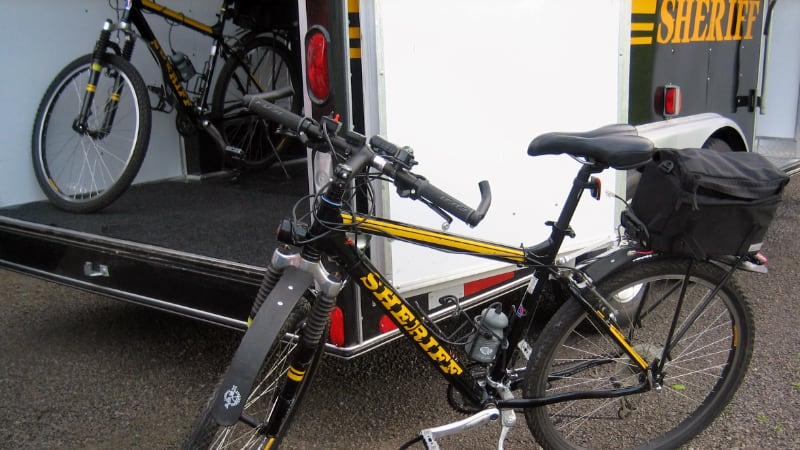 Bikes and trailer for Bike Patrol
