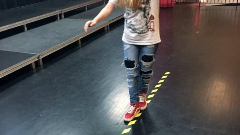 Y.I.E.L.D. - Girl Walking the line blindfolded