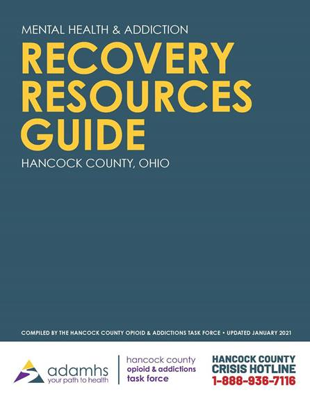 Recovery Resources Guide Cover