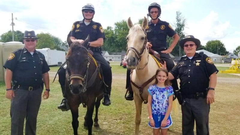 Members of Sheriff's Posse on Horseback