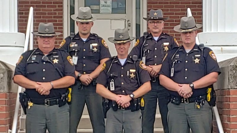 School Resource Officers on Steps