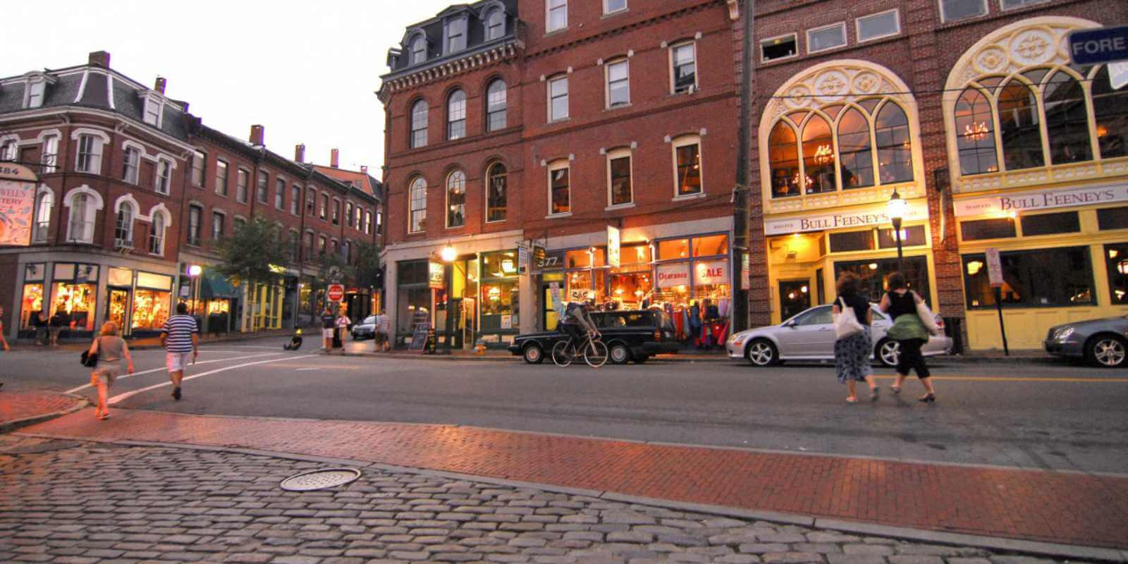 Town square in Portland, Maine