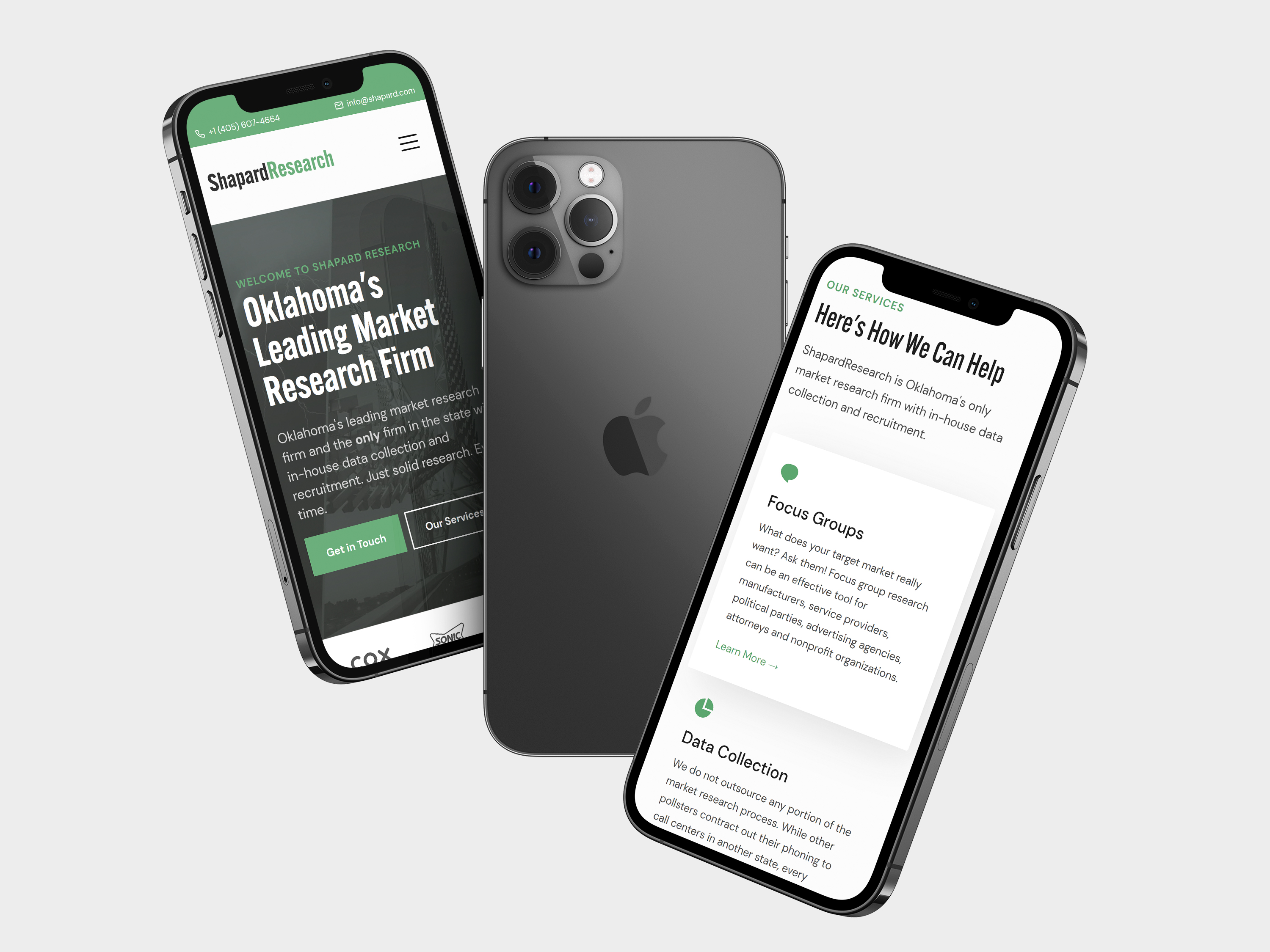 Shapard Research Website on iPhones