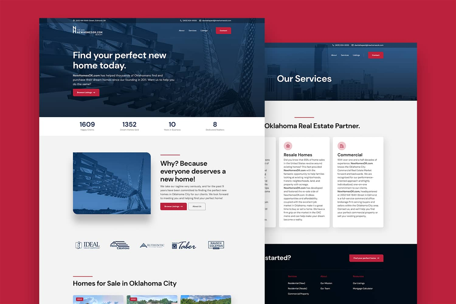 NewHomesOK's New Website, Designed by Carbon Creative, an OKC Website Design Agency