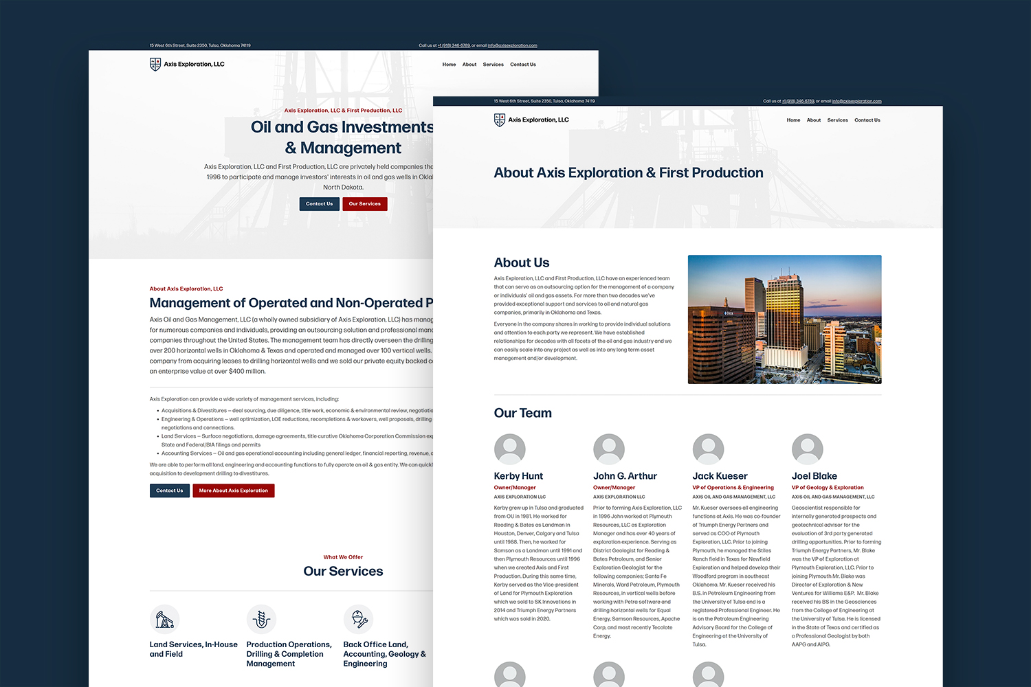 Axis Exploration's New Website, Designed by Carbon Creative, an OKC Website Design Agency