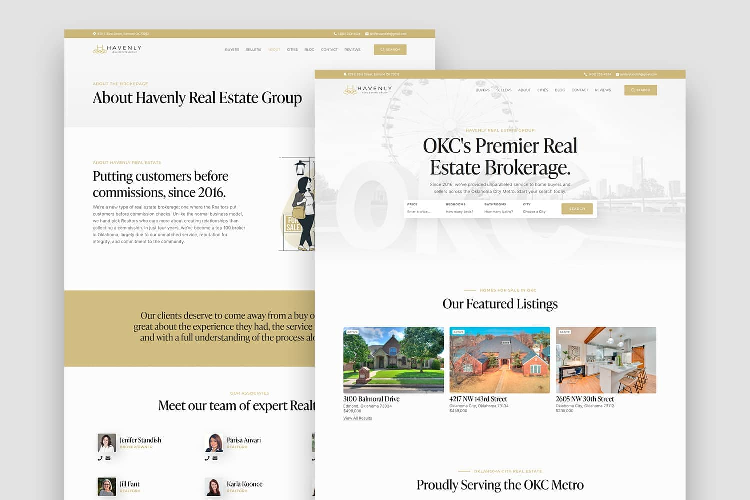 Havenly Real Estate's New Website, Designed by Carbon Creative, an OKC Website Design Agency