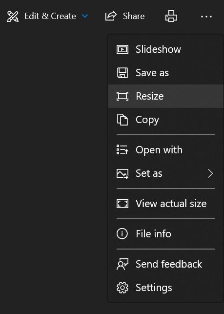 resize image on windows 10