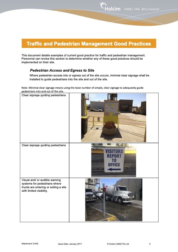 Traffic and Pedestrian Management Good Practices