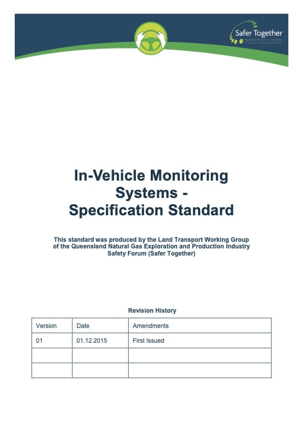 In Vehicle Monitoring System Specification Standard