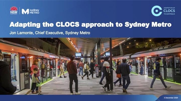 Sydney Metro Adapting CLOCS