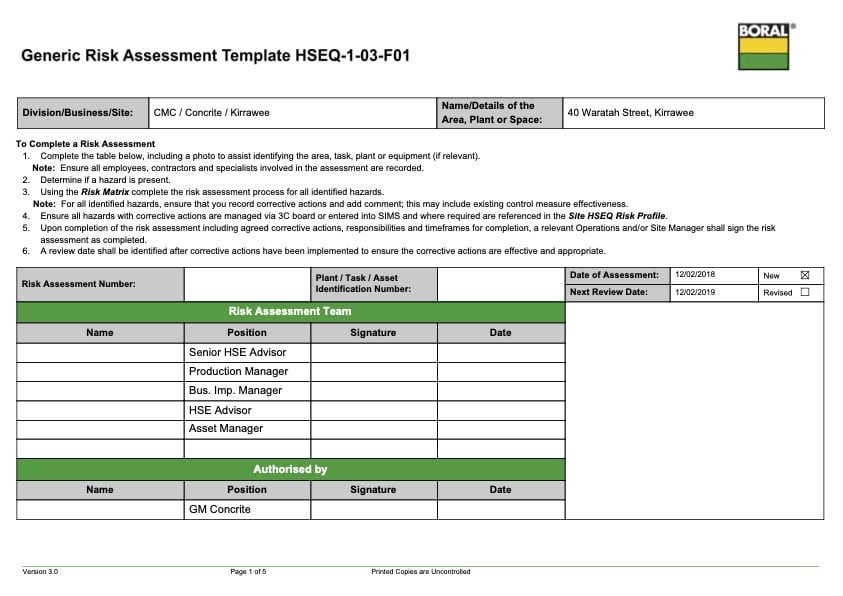 Traffic and Pedestrian Risk Assessment