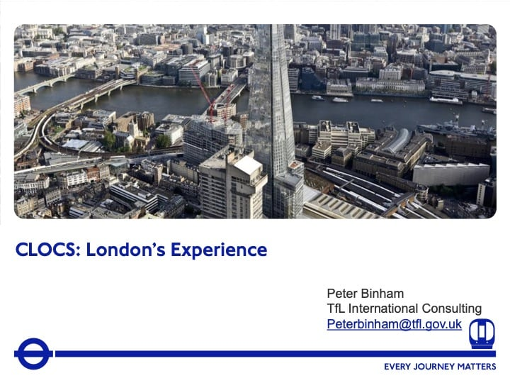 Transport for London Adapting CLOCS