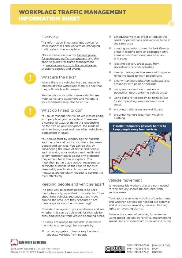 Traffic Management Information Sheet