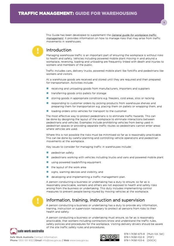 Traffic Management Guide Warehousing