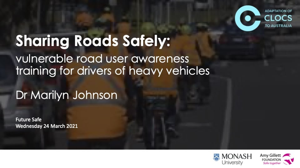 Dr Marilyn Johnson - Sharing Road Safely - Protecting Vulnerable Road Users