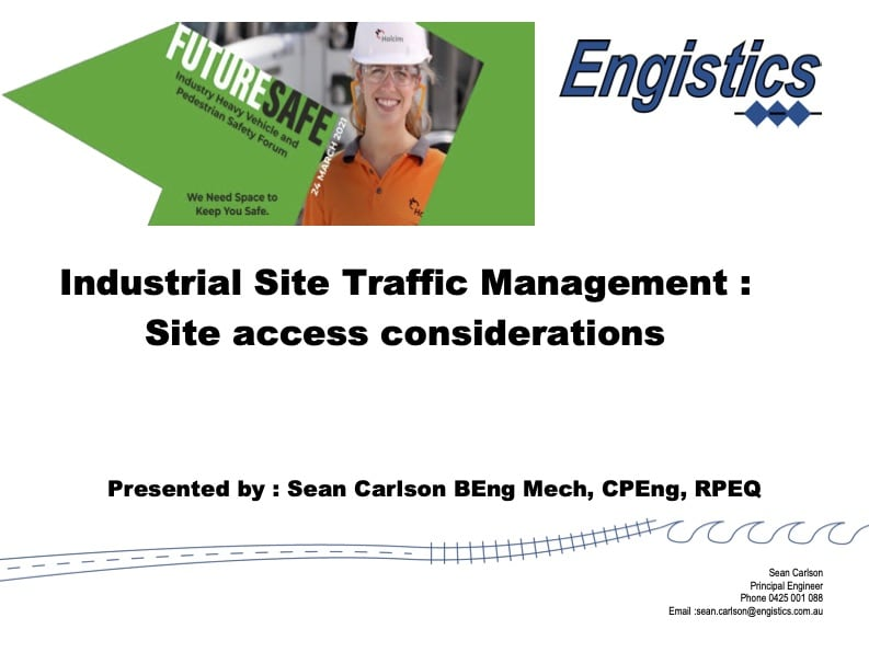 Sean Carlson - Industrial Traffic Management, Key Risks and Improvement Opportunities