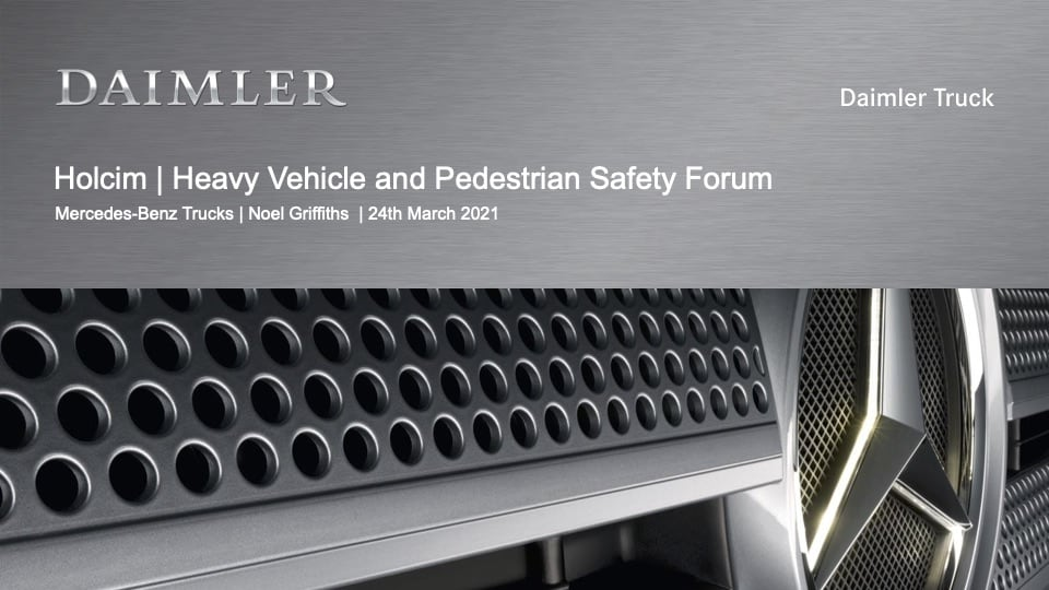 Noel Griffiths - Mercedes-Benz Truck Advanced Safety Systems