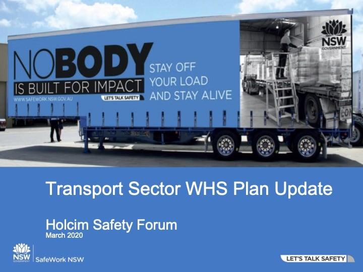 Lisa Foley - Transport Sector WHS Plan Update
