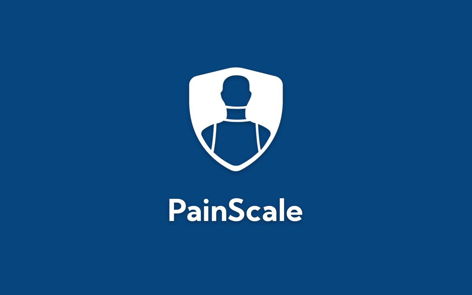 PainScale logo on blue background