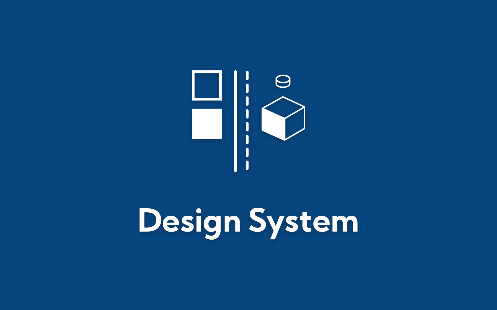 Design System icon on blue background