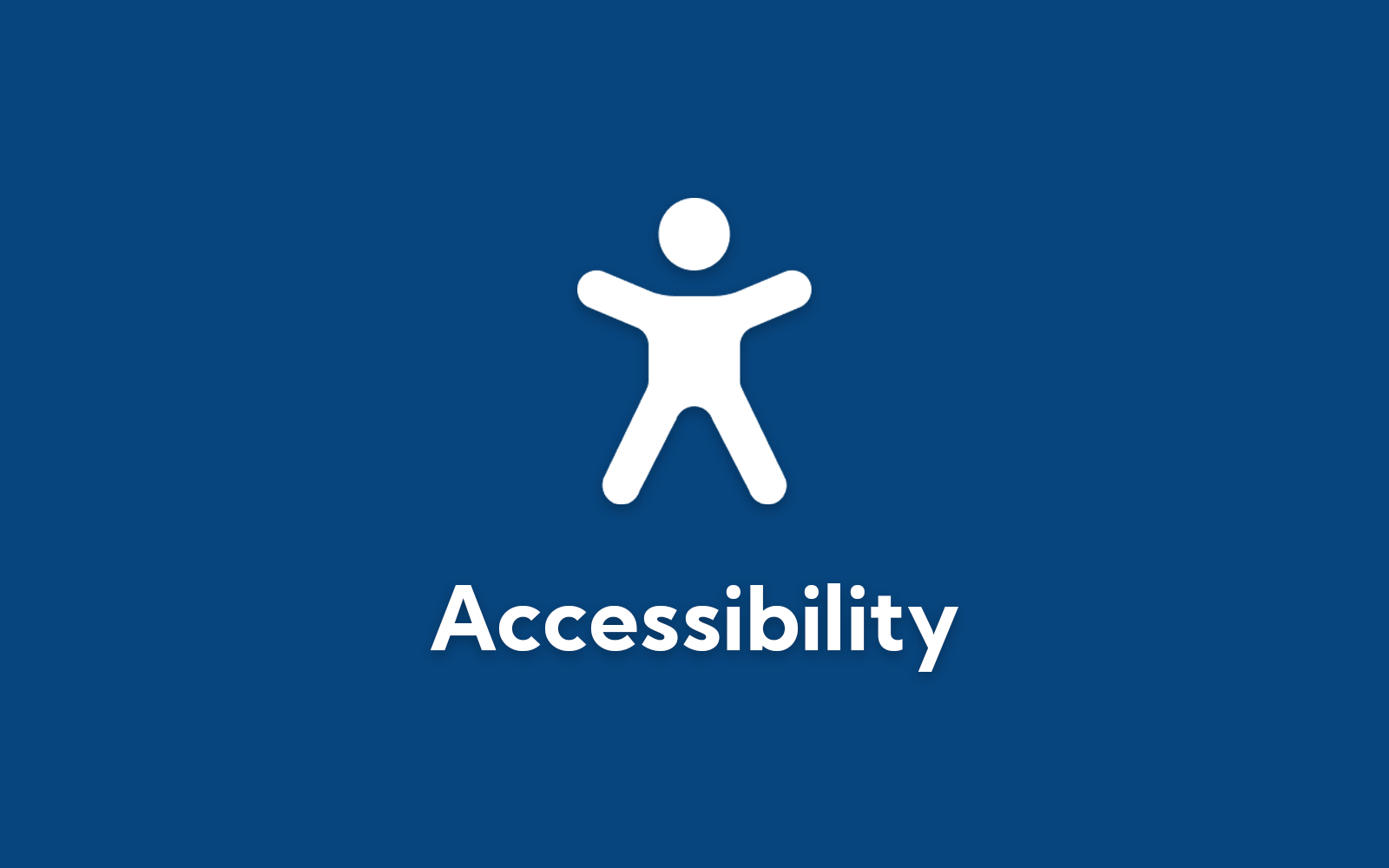 Accessibility icon on blue background