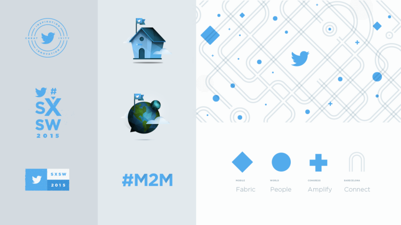 Illustration examples of Twitter assets