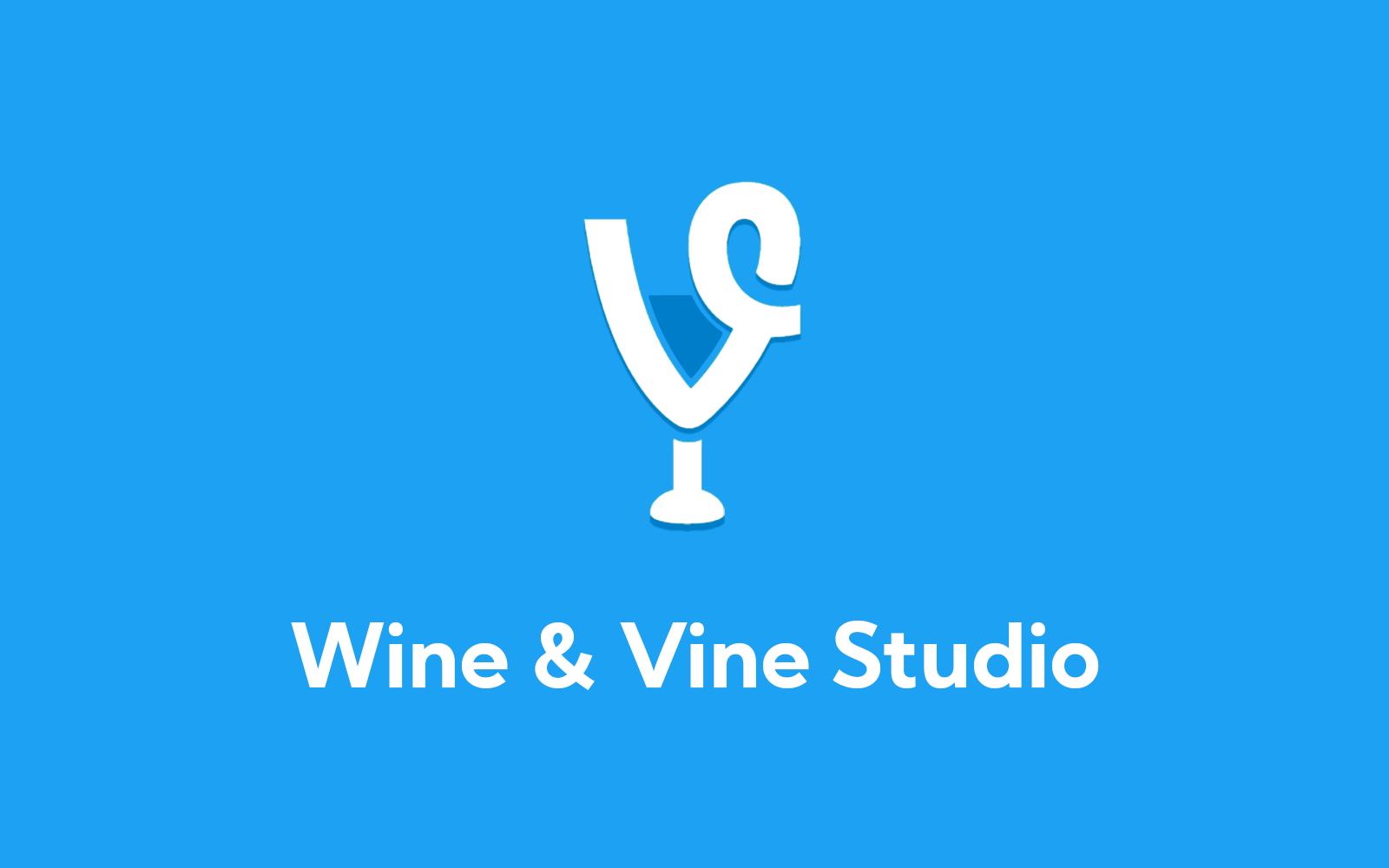 Wine and Vine logo on Twitter blue background