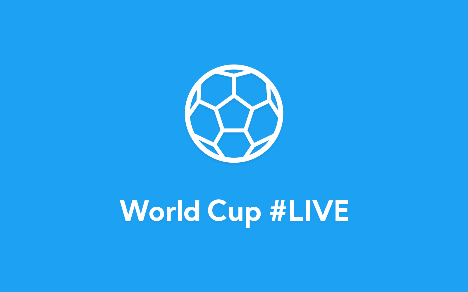 Soccerball icon on Twitter blue background